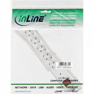 (€6,60*/1m) 1.50m InLine Steckdosenleiste mit Schalter Weiß 6 (16461Q)