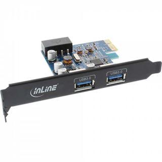 InLine 76662B 2 Port PCIe 2.0 x1 inkl. Low Profile Slotblech / Low Profile retail