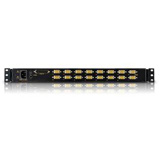"""ATEN Technology KVM-Switch 16-fach CL1016M, Slideaway 43,18cm (17"""") LCD Konsole, für 48,26cm (19"""") Schrank"""