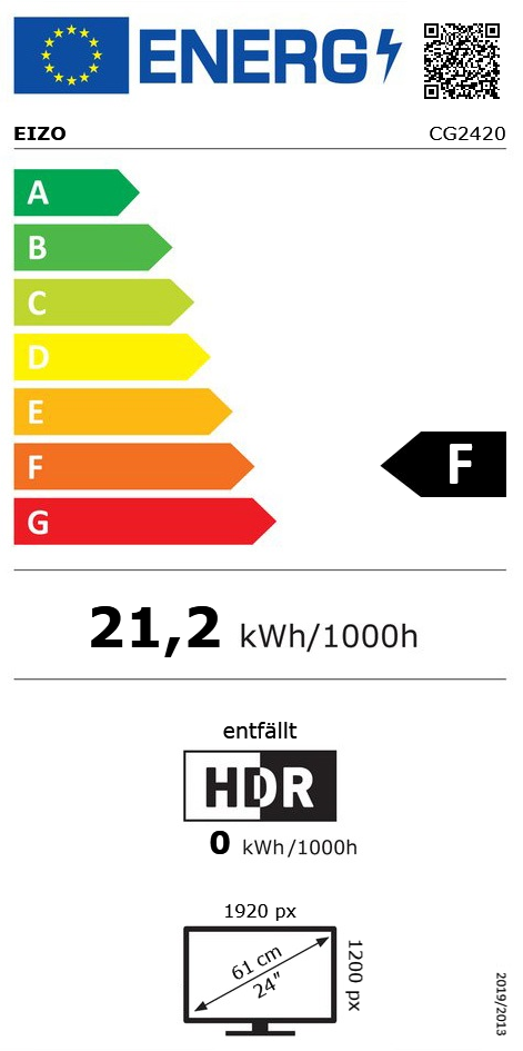 "24"" (60,96cm) Eizo ColorEdge CG2420 schwarz 1920x1200"
