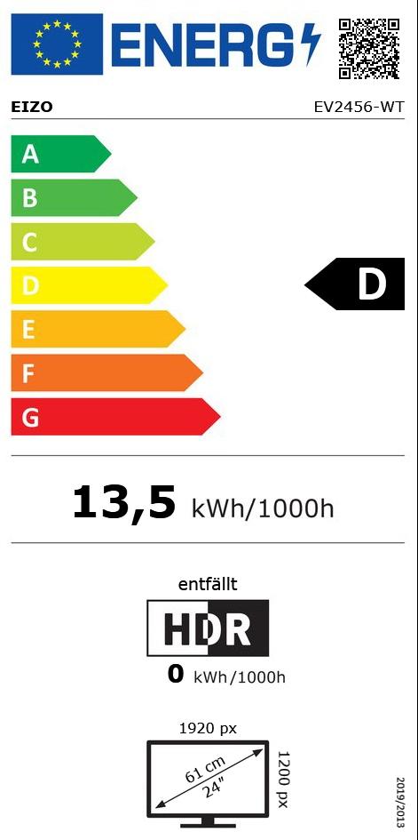 "24"" (60,96cm) Eizo FlexScan EV2456 Weiß 1920x1200 1xHDMI /"