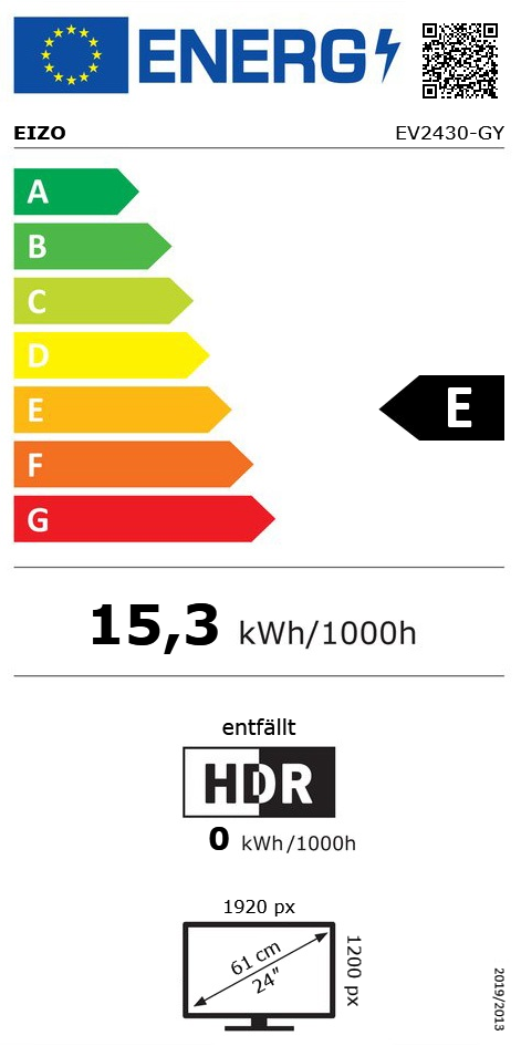 """24"""" (60,96cm) Eizo FlexScan EV2430 grau 1920x1200 1xDisplayPort"""