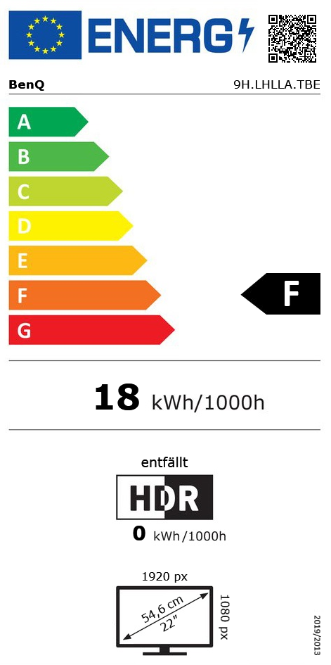 "21,5"" (54,61cm) BenQ GW2283 schwarz 1920x1080 2xHDMI 1.4 / 1xVGA"