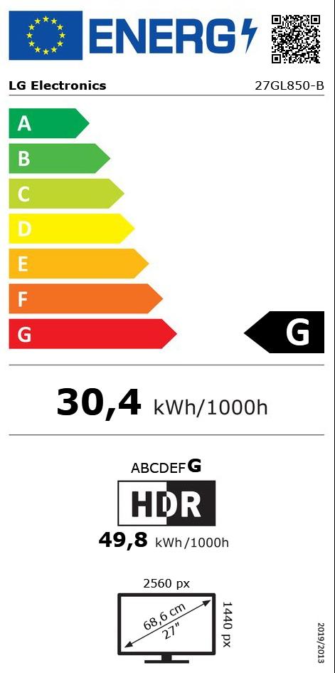 "27"" (68,58cm) LG Electronics UltraGear 27GL850-B schwarz"