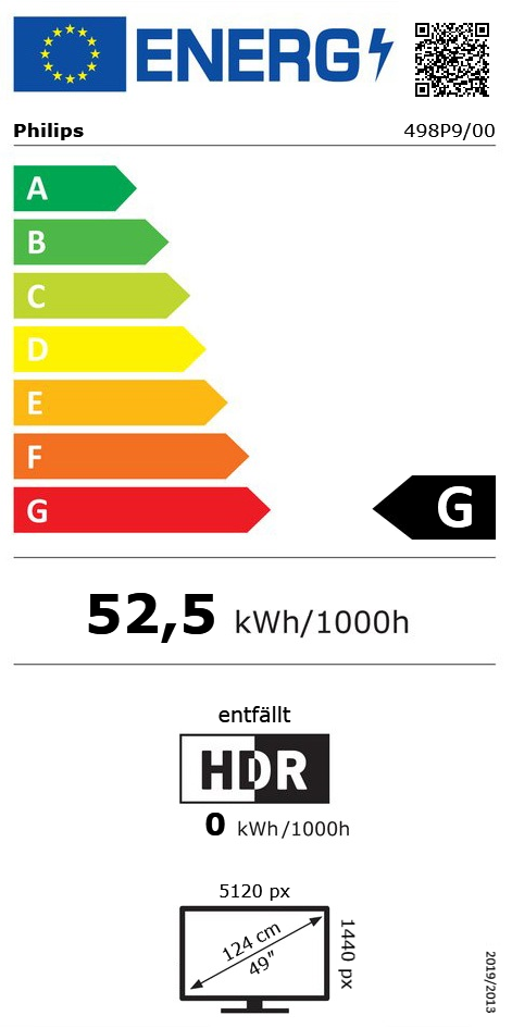"48.8"" (123,95cm) Philips P-Line 498P9 schwarz 5120x1440"