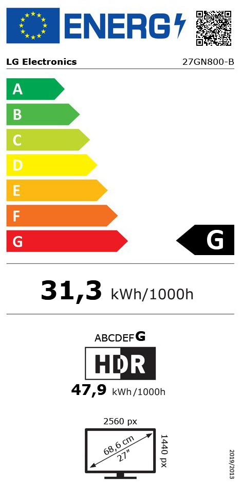 "27"" (68,58cm) LG Electronics UltraGear 27GN800-B schwarz"