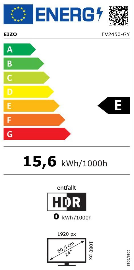 """23,8"""" (60,47cm) Eizo FlexScan EV2450-GY grau 1920x1080 1xDP /"""