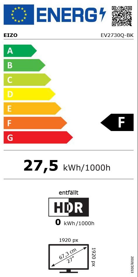 "26,5"" (67,31cm) Eizo FlexScan EV2730Q-BK schwarz 1920x1920 1xDP"