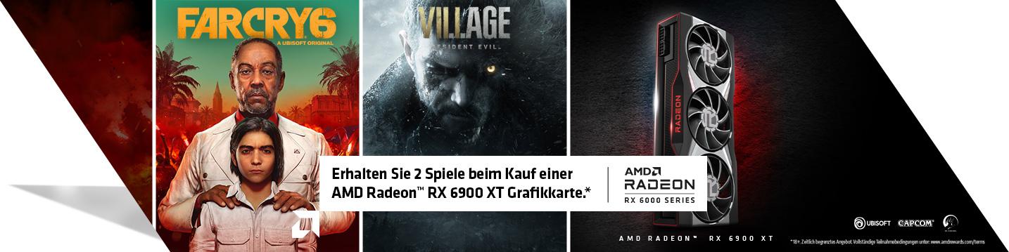 Erhalten Sie zwei Spiele beim Kauf einer AMD Radeon™ RX 6900 XT.