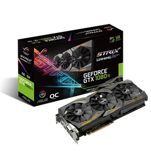 ROG Strix GeForce® GTX 1080 Ti OC-Edition 11GB GDDR5X mit Aura Sync RGB für das beste VR- & 4K-Gaming