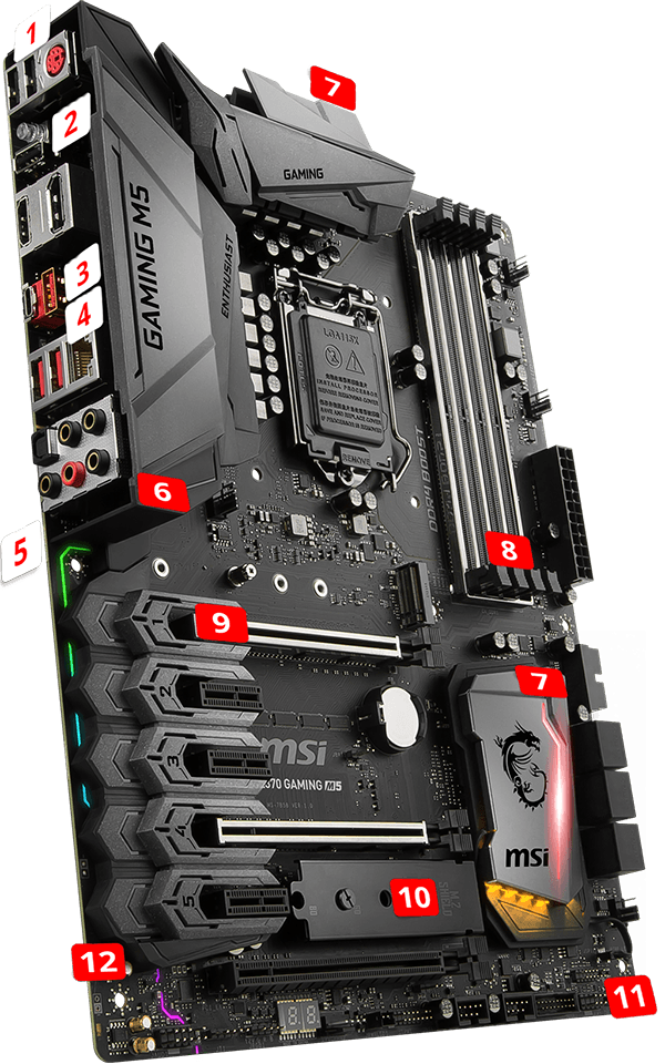 MSI Z370 GAMING M5 overview