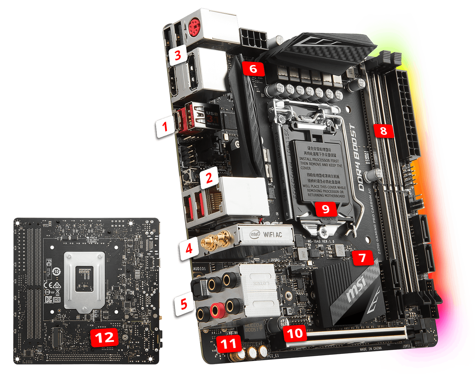 MSI Z370I GAMING PRO CARBON AC overview