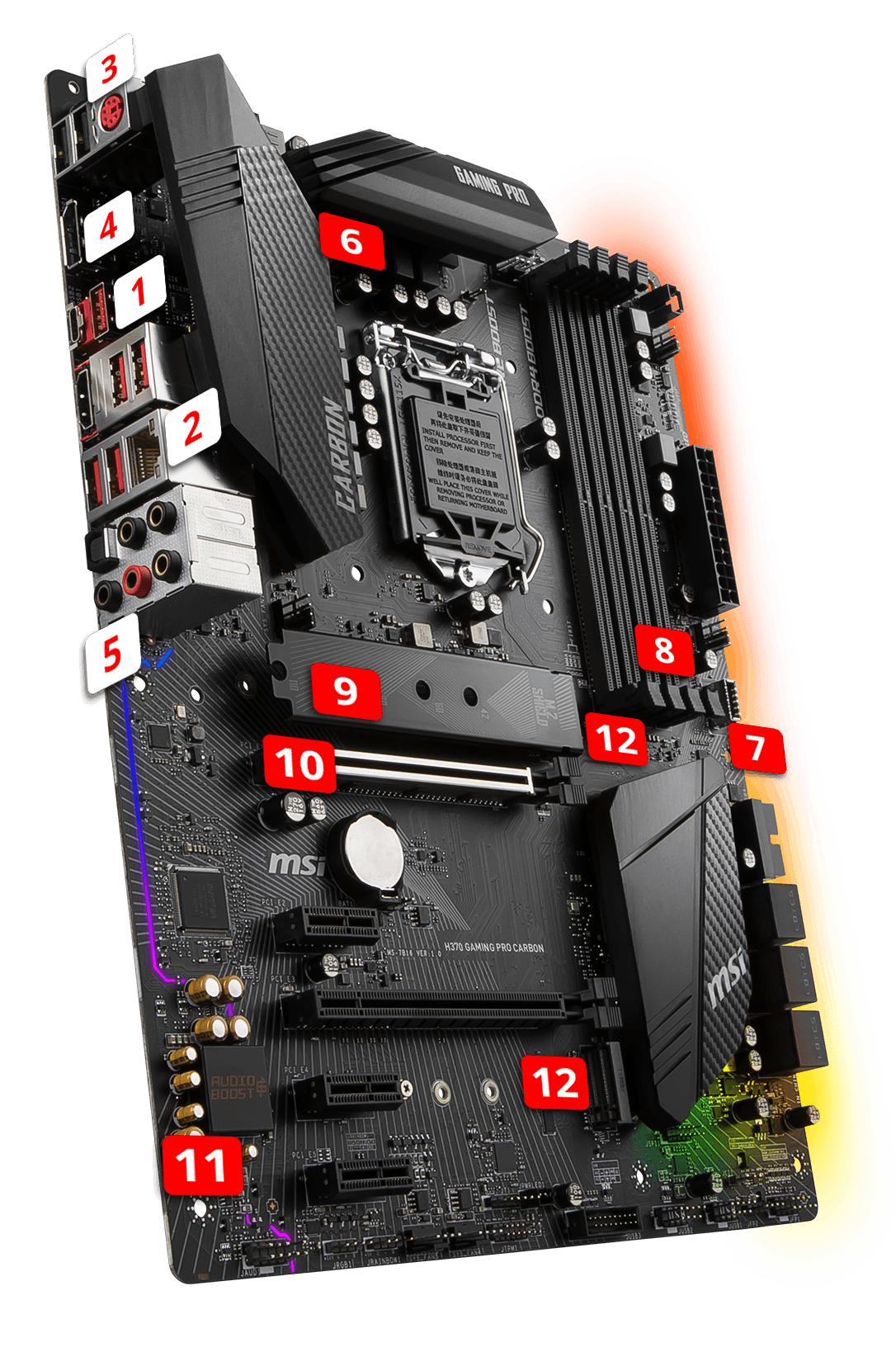 MSI H370 GAMING PRO CARBON overview