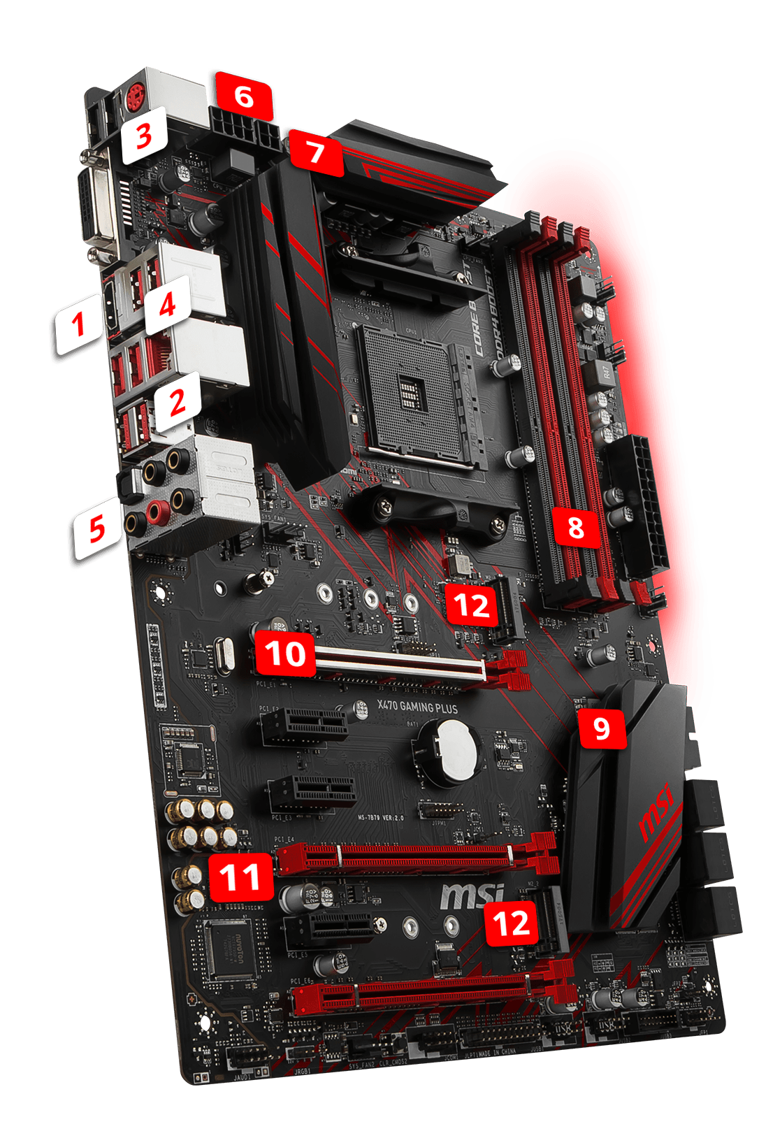 MSI X470 GAMING PLUS overview