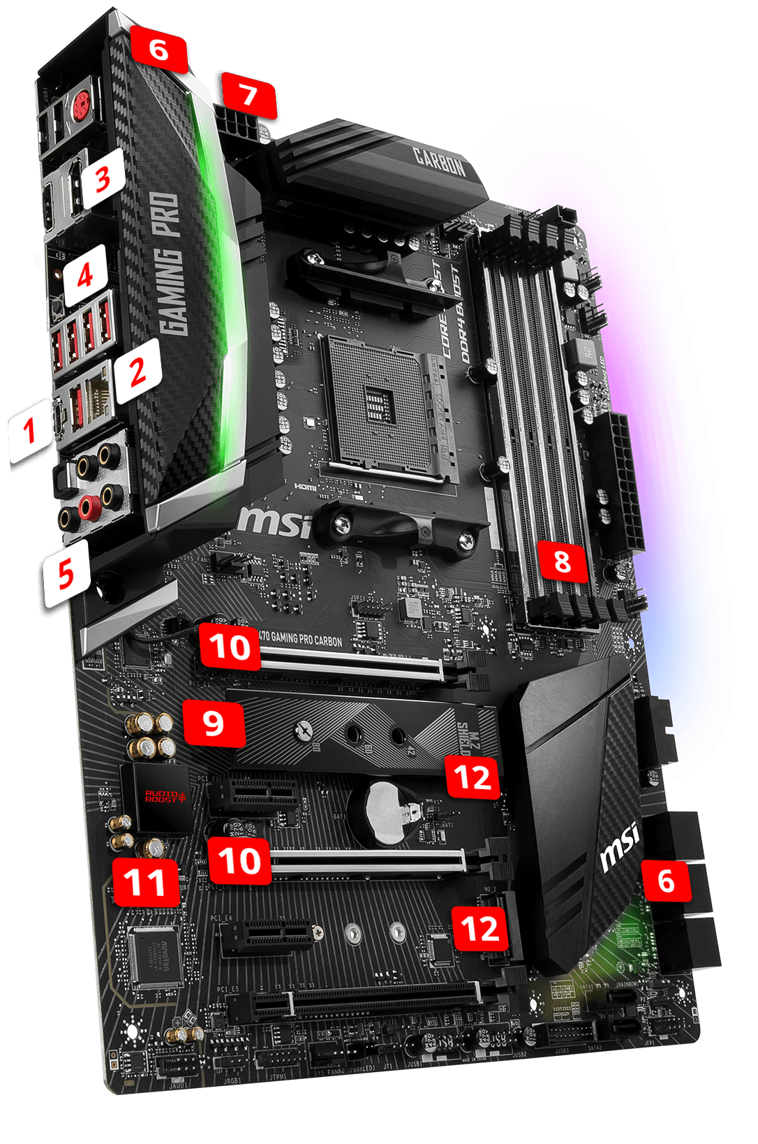 MSI X470 GAMING PRO CARBON overview