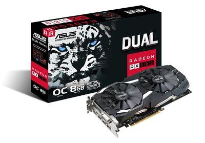 ASUS DUAL-RX580-O8G Gaming Grafikkarte