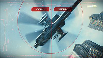Ultraschnelle Bildwiederholfrequenz von 165 Hz mit NVIDIA G-SYNC