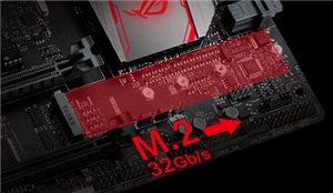 Einzigartige Geschwindigkeit dank integriertem M.2 mit bis zu 32 Gb/s