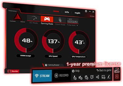 GPU Tweak II mit XSplit Gamecaster