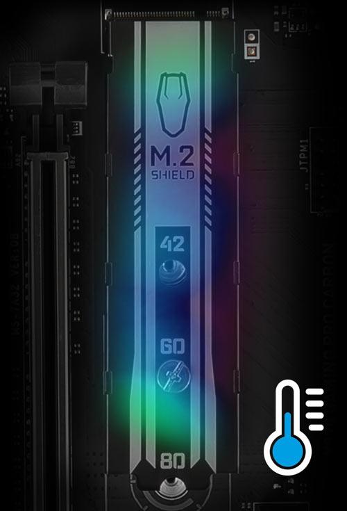 M.2 Shield cool graph