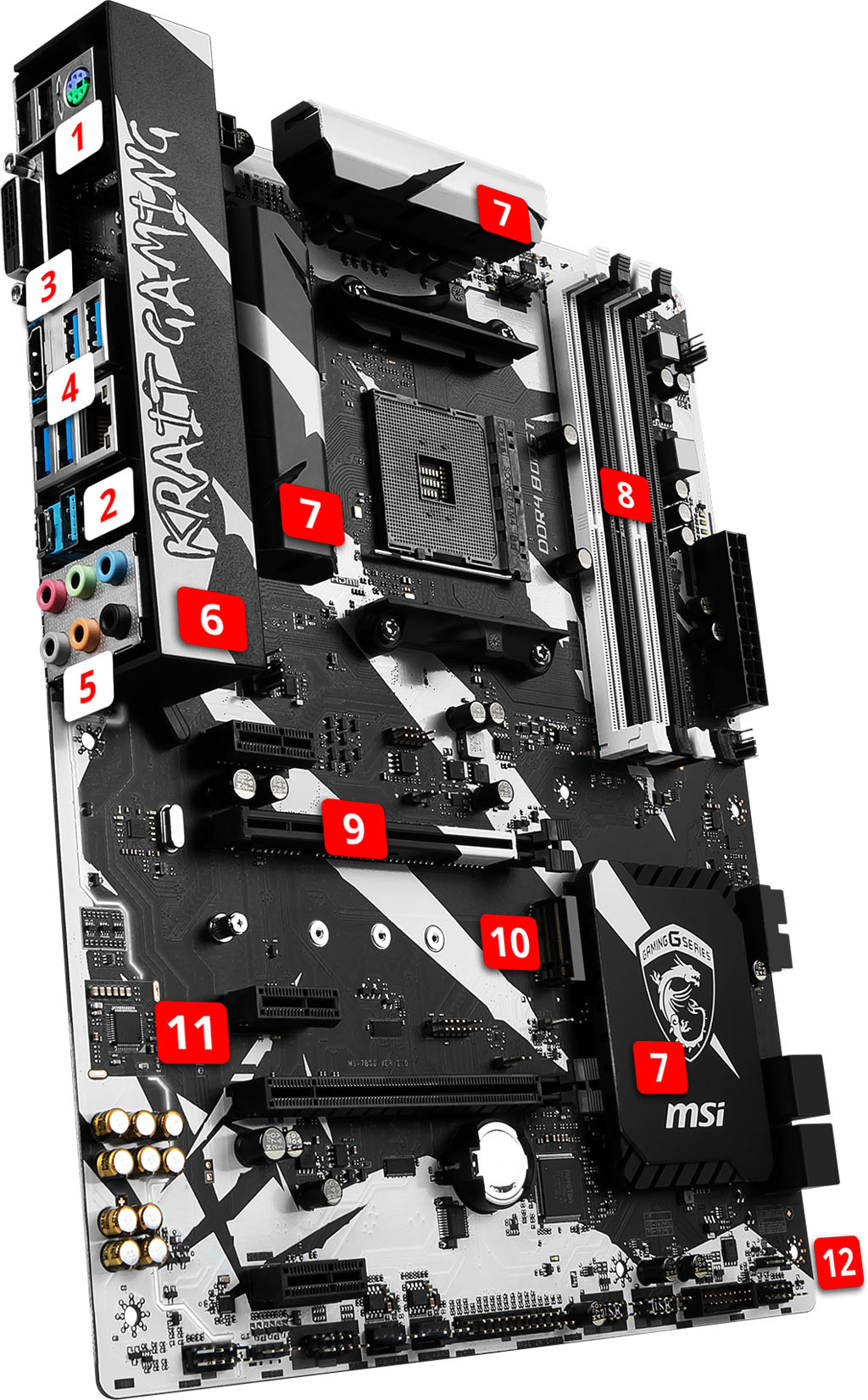 MSI B350 KRAIT GAMING overview