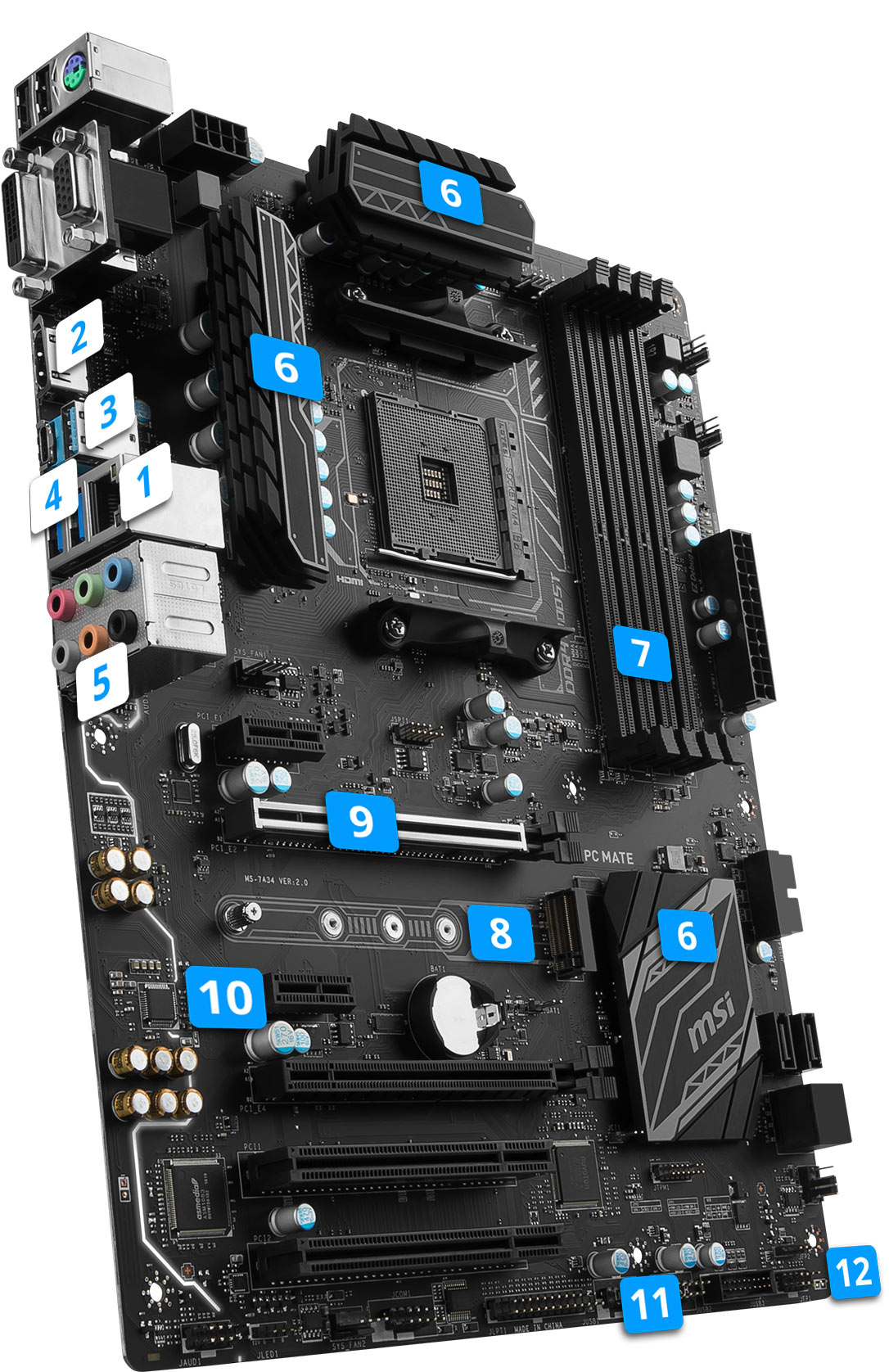 MSI B350 PC MATE overview