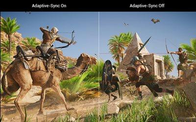 ADAPTIVE-SYNC (FREESYNC™) TECHNOLOGIE FÜR EIN VERZÖGERUNGSFREIES GAMEPLAY