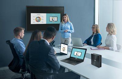 Einfache Durchführung von Konferenzen und komfortable Zusammenarbeit