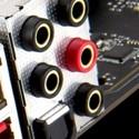 Vergoldete Audioanschlüsse mit S/PDIF