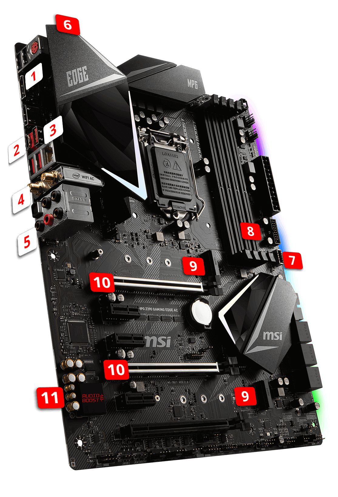 MSI MPG Z390 GAMING EDGE AC overview