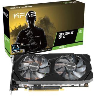 6GB KFA2 GeForce GTX 1660 Ti (1-Click OC) Aktiv PCIe 3.0 x16 (Retail)