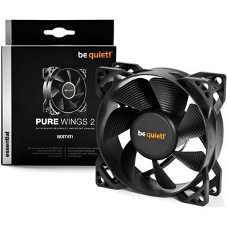 be quiet! Pure Wings 2 80x80x25mm 1900 U/min 18.2 dB(A) schwarz