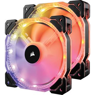 Corsair HD140 RGB LED PWM 2er-Pack mit Controller 140x140x25mm