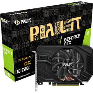 6GB Palit GeForce GTX 1660 StormX OC Aktiv PCIe 3.0 x16 (Retail)