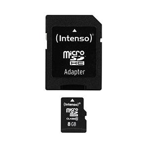 8 GB Intenso microSDHC Class 10 Retail inkl. Adapter