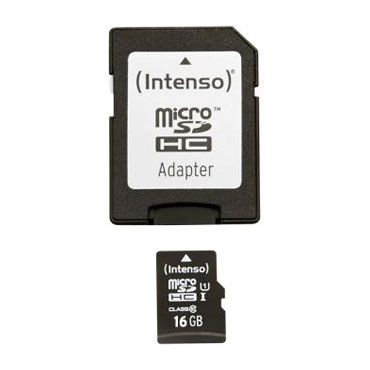 16 GB Intenso microSDHC UHS-I Retail inkl. Adapter