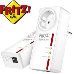 AVM FRITZ!Powerline 520E Starter-Set mit 2 Adaptern - Netzwerk über die Steckdose