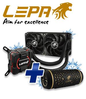 LEPA Aquachanger 240 & BTS02 2.0 schwarz/gold