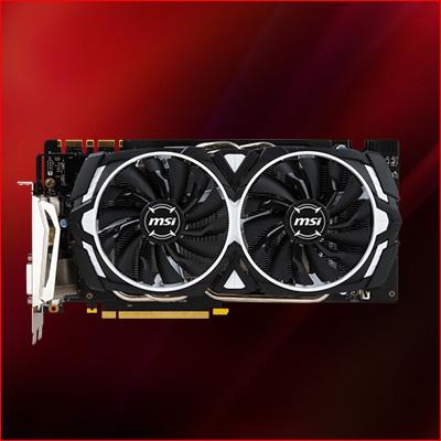 8GB MSI GeForce GTX 1070 Armor 8G OC Edition Aktiv PCIe 3.0 x16