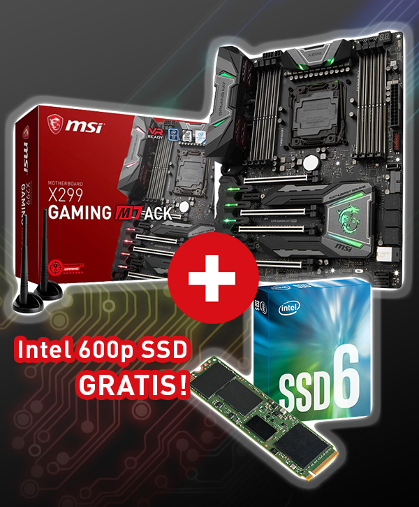 MSI X299 Gaming M7 ACK Intel X299 So.2066 Quad Channel DDR4 ATX Retail