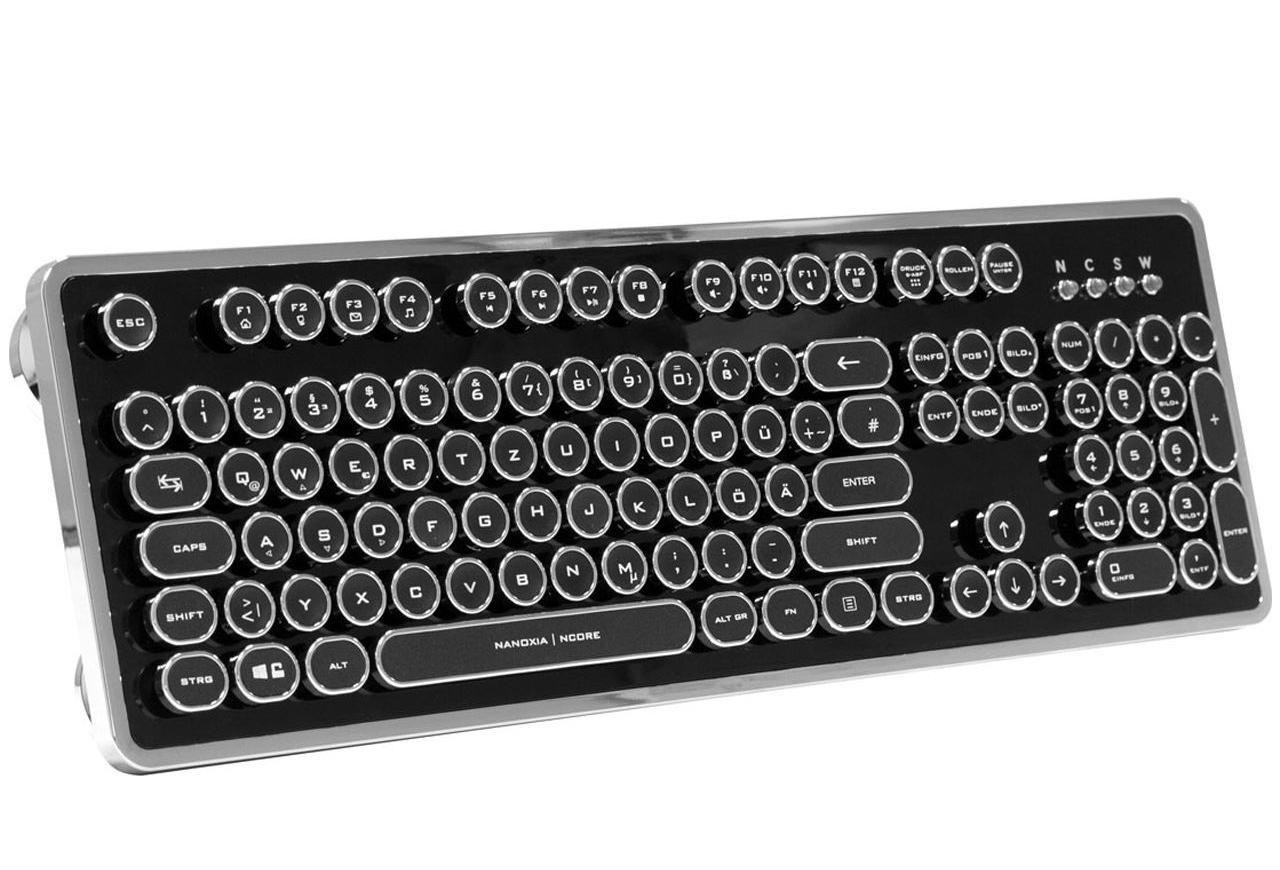 Nanoxia Ncore Retro Kailh White USB Deutsch schwarz/silber
