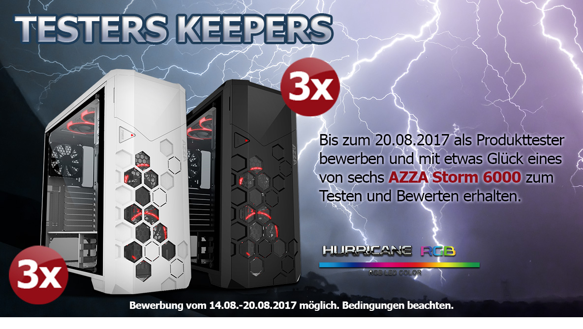 AZZA Storm 6000 Produkttester gesucht | Mindfactory.de - Hardware,  Notebooks & Software bei