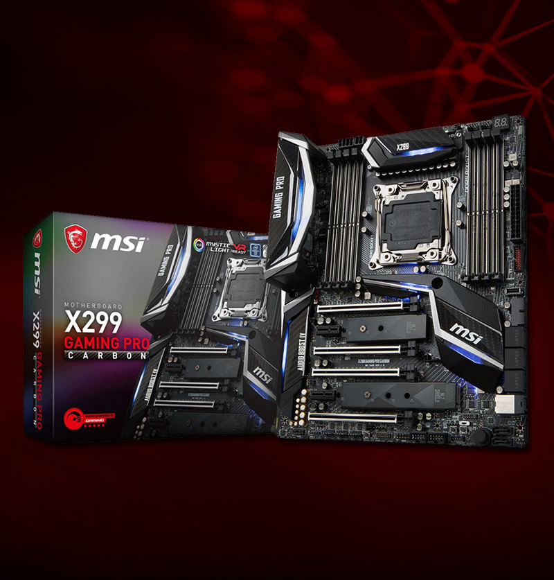 MSI X299 GAMING PRO CARBON Intel X299 So.2066 Quad Channel DDR4 ATX