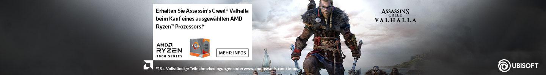 """Erhalten Sie Assassins Creed Valhalla beim Kauf einees ausgew""""hlten AMD Ryzen™ Prozessors. (Bedingungen beachten)"""