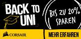 Corsair Back to Uni - Bis zu 20% sparen mit Code #BACKTOUNI!