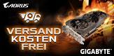 Versandkosten sparen mit GIGABYTE GeForce RTX 2070, GeForce RTX 2080 und GeForce RTX 2080 Ti