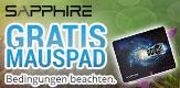 SAPPHIRE GRATIS MAUSPAD