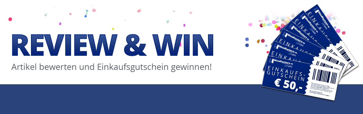 Review and Win - Artikel bewerten und mit etwas Glück Einkaufsgutschein gewinnen!