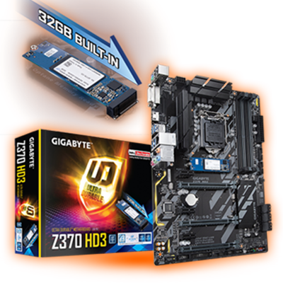 Gigabyte Z370 HD3-OP Intel Z370 So.1151 Dual Channel DDR4 ATX Retail