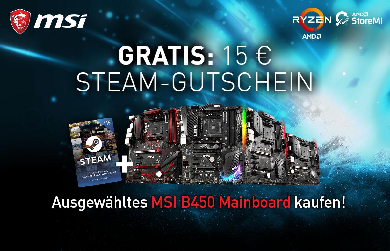 MSI B450 STEAM Promo | Mindfactory.de - Hardware, Notebooks ...